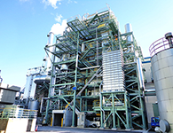 Yashio Mill's Wood Chip Biomass Power Plant
