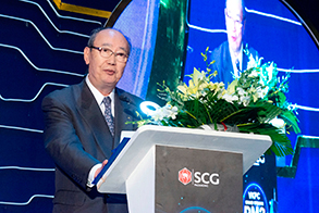 Chairman, President & CEO Otsubo speaking at the ceremony